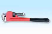 Heavy-duty pipe wrench with plastic dipped