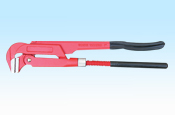 90 degree bent nose pipe wrench with plastic dipped